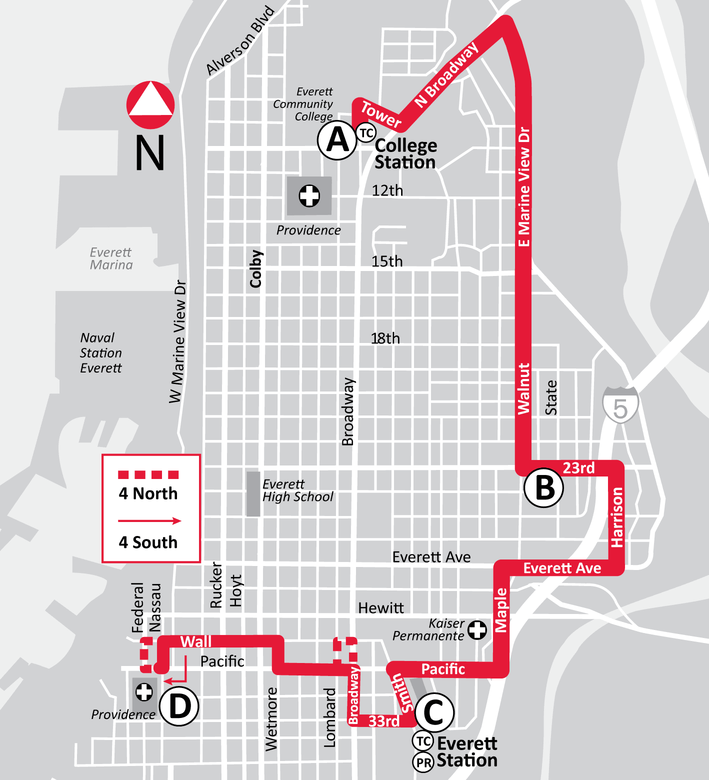Route 4 map