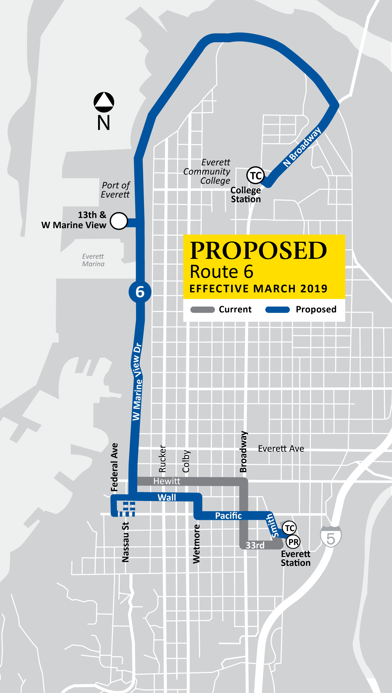 Proposed Route 6 Map