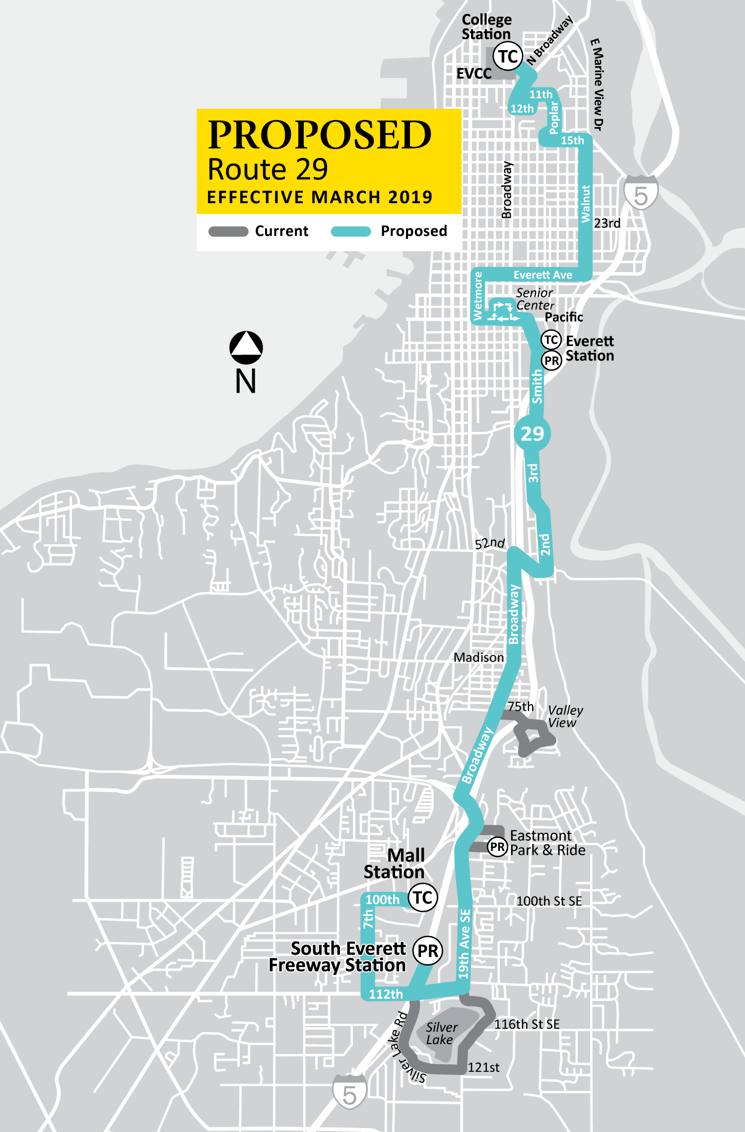 Proposed Route 29 Map