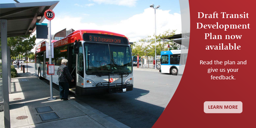Draft Transit Development Plan now available. click here to learn more.