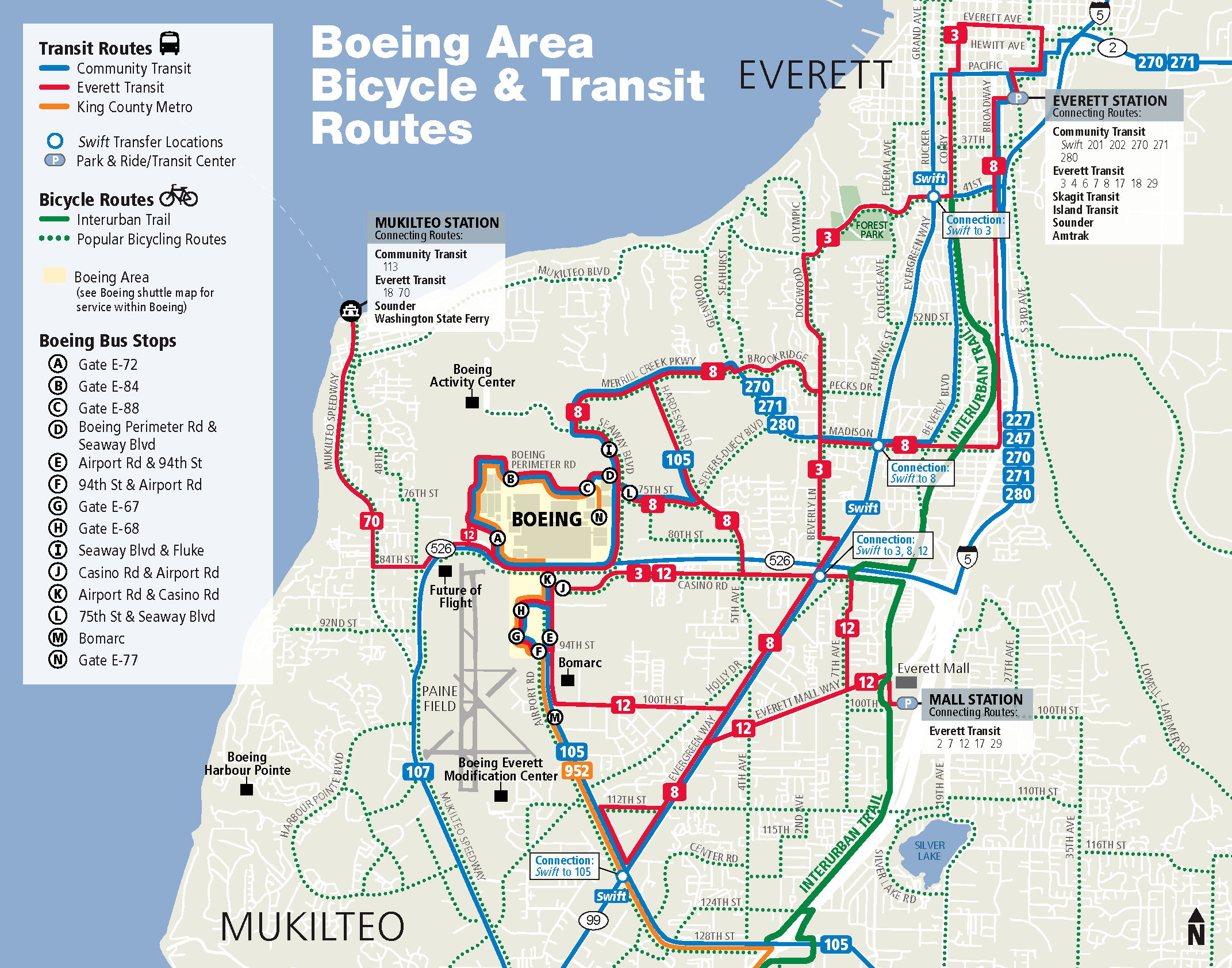 Boeing Area Transit Map